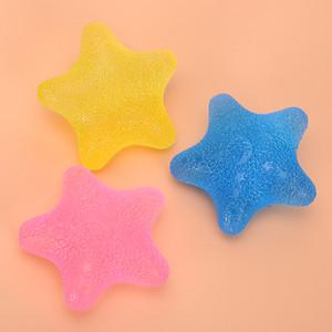Bola de Masaje Apretón de Silicona Preciosa Forma de Cinco Estrellas Apretándose Bolas Apretones de Mano Ejercicio Alivio del Estrés Venta Caliente 12sk Ww