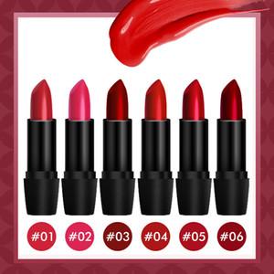 Hot New Mate Lápiz Labial Larga Duración Maquillaje Impermeable Labios Completos Tubo Negro Pintalabios Rojo Lápiz Labial Mate
