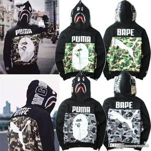 Men '; S Hooded Hoodies Camuflaje Windbreaker Zipper Hoodies Moda Cardigan Ocio Escudo Marca popular Japonés de solapa Fleece Hoodie