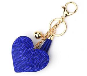 Portachiavi cuore cristallo foratura a caldo oro portachiavi portachiavi nappa portachiavi fascino borsa auto ciondolo regali artigianato accessori