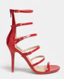 HOT sexy donna open toe partito scarpe tacco alto in pelle con cinturino tacchi 2018 sandalo gladiatore sandalo cinturino scarpe runway