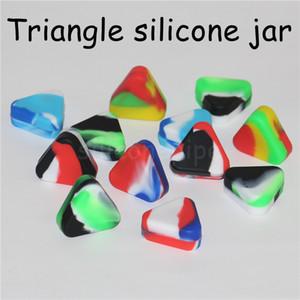 غير عصا سيليكون الشمع حاويات متعدد الألوان مربع سيليكون 1.5ml مثلث الجرار السيليكون حاوية غير لاصقة سيليكون الشمع DHL مجانا