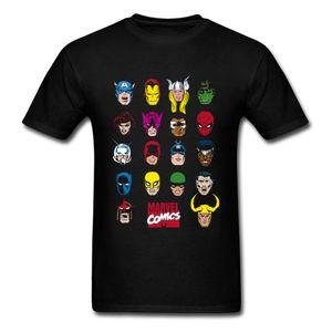 Marvel Comics T-shirt Hommes Caractère Faits saillants Tops Tees Vêtements noirs Custom T Shirt 2018 Nouveau Super-héros T-shirts Spiderman