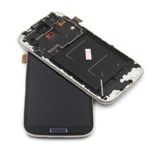 أعلى جودة شاشة S4 LCD لسامسونج غالاكسي S4 gt-i9500 i9505 i9515 i919 i747 شاشة lcd لمس الشاشة محول الأرقام مع الإطار
