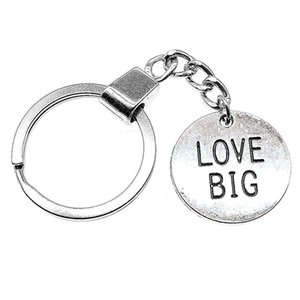 6 Pieces Key Chain Women Key Rings Car Keychain For Keys Love Big Round Plate 25x25mm