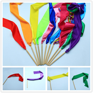 Kids sports meet Gymnastics ribbons 10x100cm Kindergarten performance props baby boys girls class-break Exercises festivals rah-rah cheer