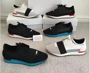 2018 Nombre de la marca Kanye West Race Runner Casual Shoe Man Mujer Nuevo diseñador Army Green Low Cut Mesh Trainer Shoes Cheap Sneaker Size 35-46