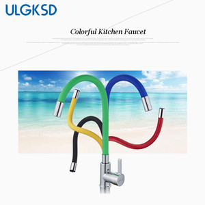 ULGKSD Kitchen Sink Faucet Single Handle Universal Swivel Mixer Tap Deck Mounted Hot and Cold Mixer Faucets