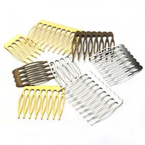 10 unids / lote Antique Gold / Rhodium / Bronce Color horquillas Nupciales Hair Combs Accesorio Pelo Alambre para Boda Pernos Accesorios