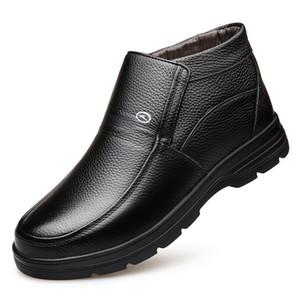 Warmes echtes Lederstiefel Mens Shoes Winter-Schnee-Aufladungs-Mens Work Shoes Fashion Footwear Gummistiefel-Aufladungen im Freien beiläufige Schuhe für Männer