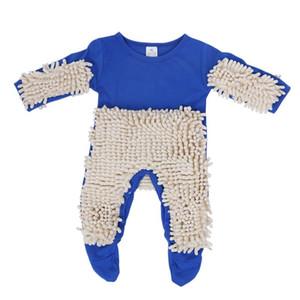 Baby Clothes Mop Pagliaccetto Outfit Unisex Neonato Ragazzo Ragazza Lucida Pavimenti Pulizia Mop Suit Bambino Scorrevole Toddler Swob Tuta