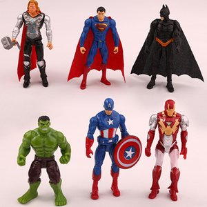 6pcs   set 10cm super hero the avengers figures pvc model toy spider man iron man thor action toy gifts for boys