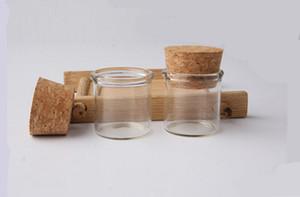Botellas de vidrio pequeñas 5G con tapones de tapones 5 ml Cristalería de alta calidad / Glas Jar Mini Test Tube SN599