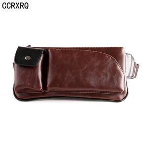 CCRXRQ Sac de taille chaude en cuir Fanny Pack Handy Mode Ceinture Sac de haute qualité Marque PU Taille Packs Mâle de voyage Ceinture de poitrine Pack