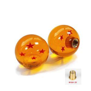 Spedizione Gratuita M10 * 1.25 Gear SHIFT KNOB 1 a 7 Star DRAGONBALL Z DRAGON BALL ambra drago Car Shift Manopole