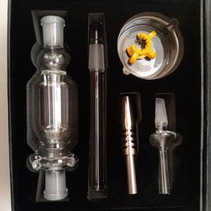 Nouveaux kits de collecteur de nectar Titanium Tip Quartz Banger 10m 14mm 18mm Tube de verre Oil Rig Concentré de paille de miel Dabber Dish