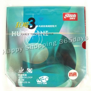 DHS NEO Hurricane3 (Hurricane 3) Provincial red pips-in table tennis   pingpong rubber with orange sponge