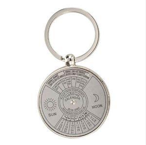 10pack (Keychain key ring metal Perpetual Calendar pattern