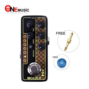 3 bant EQ Gitar etkisi pedalı MOOER topuzu Pedal Connector ile Mooer Mikro Dijital Preamp 004 Gün Tripper çift kanal preamp