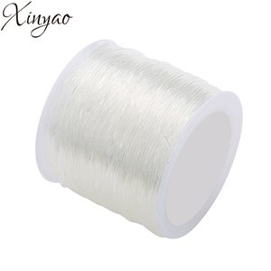 XINYAO 2018 0.5 0.6 0.7 0.8 1.0 1.2 1.5mm Size Round Elastic Crystal Wire White Strong Thread Rope for DIY Jewelry Making F7401