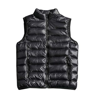 2018 New Fashion Solid Color Men Sleeveless Jacket Casual Winter Vest Male Slim Vest Mens Windproof Warm Waistcoat 4XL 5XL