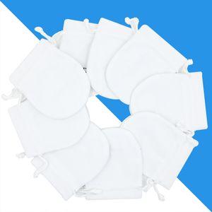 Белые ювелирные изделия бархат сумки Сумка для Пандоры подвески бусины стерлингового серебра браслет женский кулон ожерелье упаковка подарочные пакеты