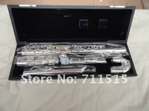 New Arrival Symphonic Elbow With E Key 16 Holes Closed Flute Silver Plated Surface Western Musical Instruments With Case Free Shipping