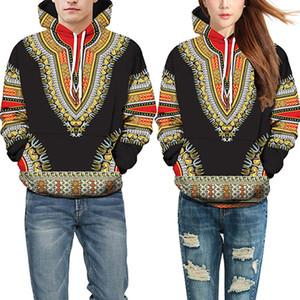 Nouveau Plus La Taille 3d Hoodie Dashiki Coton Africain Hommes Femmes Hoodies Sweats Polyester Sweat À Capuche pour Moletom Feminino