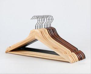 أفضل نوعية الخشب الطبيعي دعوى الشماعات معطف الشماعات رفوف الملابس مع السنانير مكافحة الصدأ وبار عدم الانزلاق