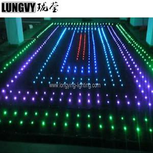 P18 3M * 6M Cloth Vision LED Video Curtain DJ Booth Vision con un profesional para DJ Iluminación de escenario