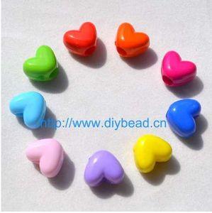 Loom Bands DIY Zubehör, Herzform Perlen, Mix Farbe, 10 MM großes Loch Acryl Perlen