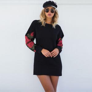 Preto hoodies camisolas Rosa apliques de Berydress mulheres outwear mangas compridas Pullovers Hip-Hop de outono brancas soltas roupas