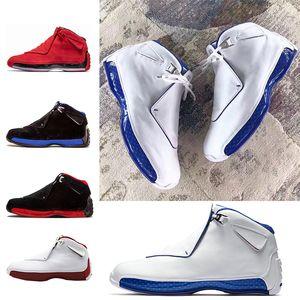 Ucuz 18 18 s Erkek Basketbol Ayakkabı Toro OG ASG Siyah Beyaz Kırmızı Bred Kraliyet Mavi Spor Sneakers eğitmenler açık tasarımcı