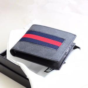 Alta calidad famosa marca de cuero real de los hombres de la billetera corta 2018 Diseño de moda de la identificación del regalo masculino Titular de la tarjeta de crédito Cartera carteira masculina
