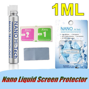 1ML Nano Liquid Protector de pantalla Anti Scratch Invisible Liquid 3D Full Cover Película de vidrio templado para Samsung S9 Note 8 iPhone X 8