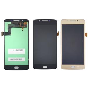 """Для 5.0 """" дюймов черное золото для Motorola Moto G5 ЖК-дисплей с сенсорным дигитайзер Ассамблеи Бесплатная доставка"""