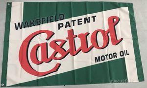 Castrol logotipo bandeira, azul castrol carro racing club bandeira, 90 * 150 CM polyster bandeira, bandeira rei