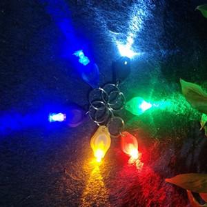 할로윈 선물 다채로운 빛 열쇠 고리 주도 손전등 키 체인 화이트 라이트 UV 빛 미니 링