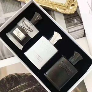 Yeni sıcak klasik Creed dağ bahar 3 parça set 30 ml erkek parfüm Eau de tuvalet klasik ücretsiz kargo