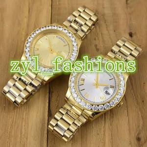 Relojes de la marca de lujo de los hombres de la manera de alta calidad Relojes de lujo del boutique del negocio del caballero del acero inoxidable del oro relojes de los deportes mecánicos automáticos