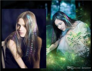 Luminous Light LED Haarverlängerung Flash Braid Party Girl Hair Glow von Fiber Optic Weihnachten Halloween Nacht Lichter Dekoration Freies Schiff