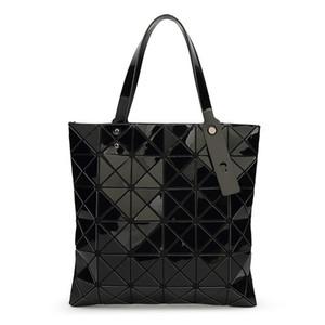 톱 핸들 백 baobao 핸드백 새로운 접는 기하학적 바오 바오 가방 PU 여성 어깨 핸드백 여성 baobao 낭