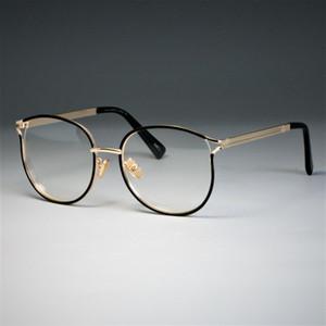 Marke Designer Cat Eye Brillen Rahmen Frauen Metall Optische EyeGlasses Fashion Brillen Computer Gläser 45257
