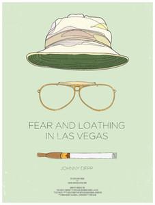 Страх и ненависть в Лас-Вегасе 1998 киноискусство шелк печать плакат 24x36inch (60x90cm)