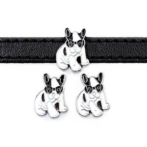 20 stücke DIY zubehör zink-legierung Coole Hundeschlitten Charm Bead DIY 8 MM Hund Katze Kragen Armband