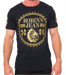 Atacado 2016 New Robin T-shirt Dos Homens robin camisas jeans Homem Tshirt Robins homens assentamento robins camisa t shirt tops puls tamanhoM-3XL