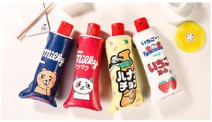 Kreative Zahnpasta-Form-Schule-Bleistift-Beutel-Kasten mit Bleistiftspitzer - nette Kursteilnehmer-Federbeutel-Briefpapier-Büro-Schulbedarf