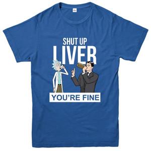 Rick Ve Morty T-Shirt, Karaciğer Kapa çeneni Güzel Tee Top
