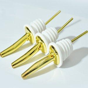 Champagne Wine Pourer Beer Bottle Stopper Gold Color Stainless Steel Wine Pourers Oil Bottle Pot Flask Cork Plug
