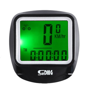 SunDing Leisure Wired Bicycle Computer Water Resistant Cycling Odometer Speedometer with LCD Backlight Bicycle Multifunction Computer Bike